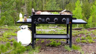 Blackstone Griddle in the woods